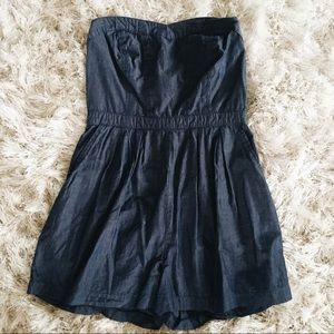 Denim Strapless Romper